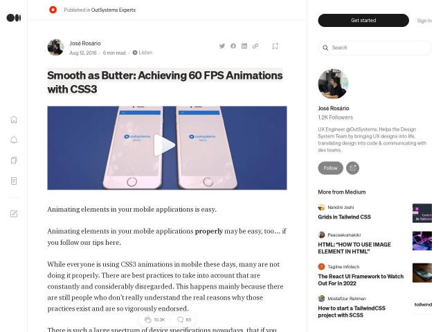 Smooth as Butter: Achieving 60 FPS Animations with CSS3 — OutSystems Experts — Medium