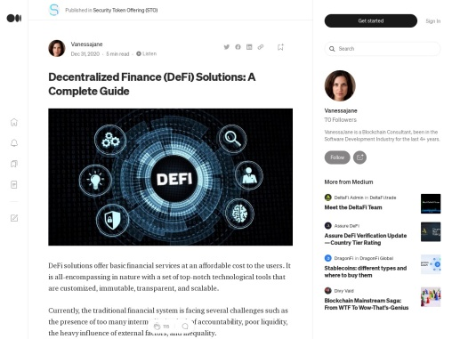 Decentralized Finance Solution: A step by step Guidance