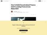 How to Develop DeFI Lending Platform like Maker