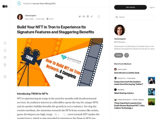 How to Build NFT on Tron Network