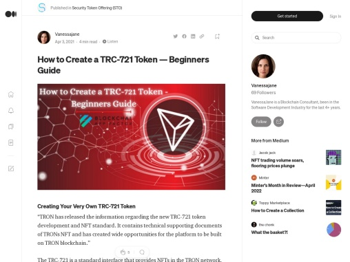 Creating Your Very Own Trc-721 Token