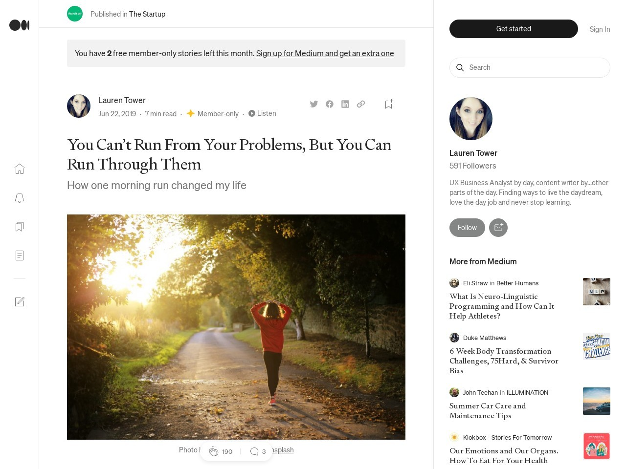 You Can't Run From Your Problems – The Startup – Medium