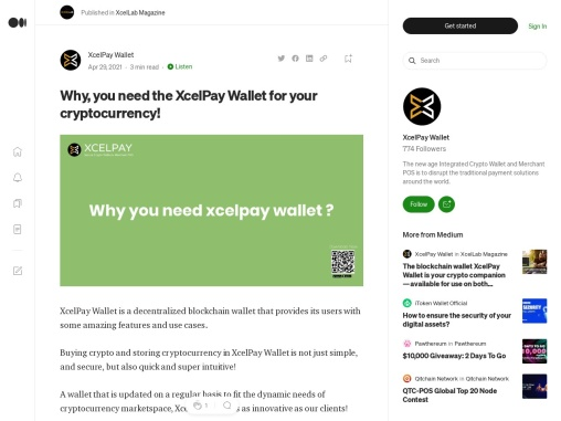 Why, you need the XcelPay Wallet for your cryptocurrency!