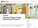 4 Important Things to Consider When Opening A Restaurant