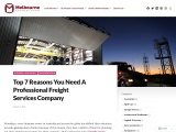 Top 7 Reasons You Need A Professional Freight Services Company