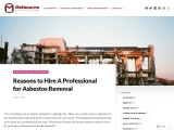 Reasons to Hire A Professional for Asbestos Removal