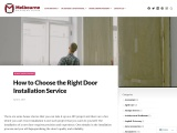 How to Choose the Right Door Installation Service