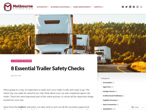 8 Essential Trailer Safety Checks