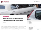 6 Top Reasons You Should Hire Limousine for Your Next Event