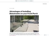 Advantages of Installing Balustrades on your Front Porch