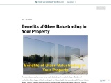 Benefits of Glass Balustrading in Your Property