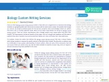 Biology Custom Writing Services