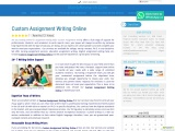 Custom Assignment Writing Online