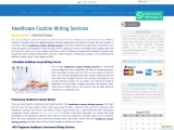 Healthcare Custom Writing Services