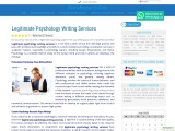 Legitimate Psychology Writing Services