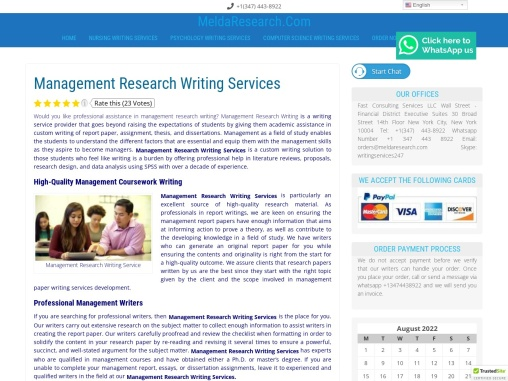 Management Research Writing Services