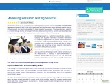 Marketing Research Writing Services