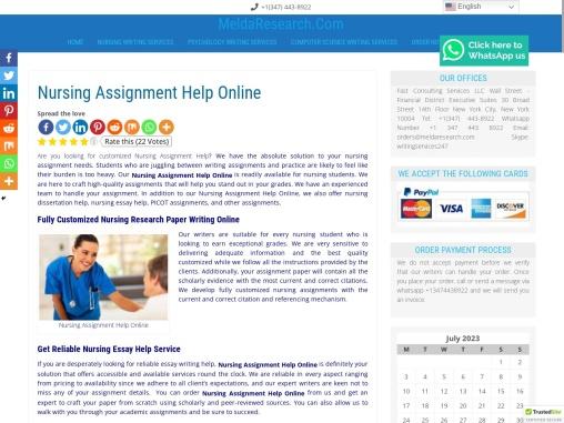 Nursing Assignment Help Online