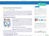 Nursing Research Writing Help