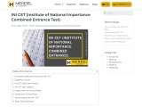 INI CET (Institute of National Importance Combined Entrance Test) – Mendel Academy