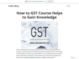 GST Certification Course Online India