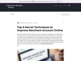 9 secret facts to consider while choosing Merchant Account Online