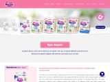 Available All Size Baby Diapers Online at Merries India