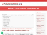 100% Approved ANSI B16.5 Flange Dimensions, Weight Chart In Mm – Metalica Forging Inc