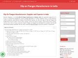 Slip on Flanges Manufacturer in India
