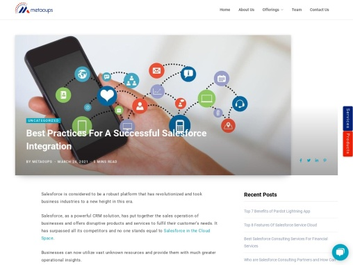 Successful Salesforce Integration For Businesses  | Metaoups