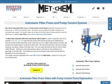 Automatic Filter Press – Automatic plate shifter, Automatic Washer, Automatic Pump Control Systems