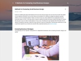 5 Methods for Evaluating Small Business Designs