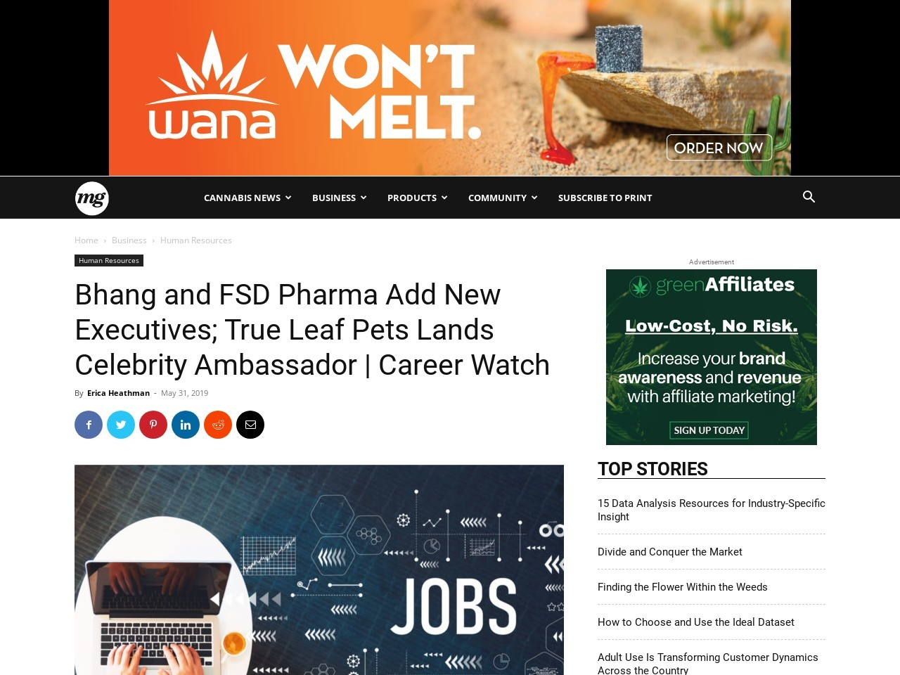 Cannabis Companies Tap New Executives | Career Watch