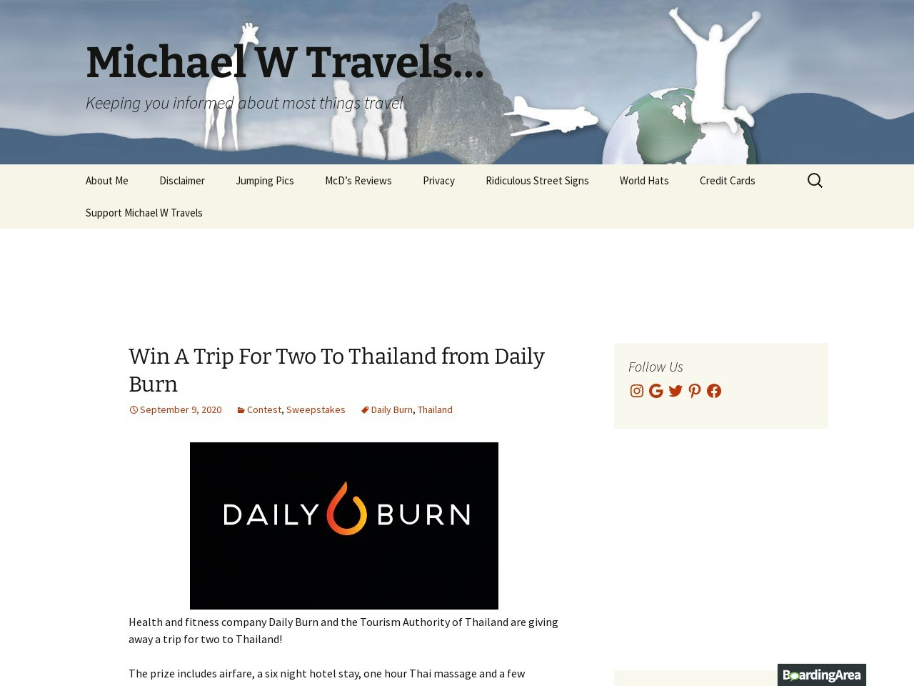 Win A Trip For Two To Thailand from Daily Burn