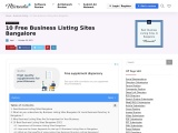 Top 10 Classified Sites in Bangalore