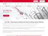 JIS Z 2801 Measuring Antibacterial Activity on Plastics Surfaces | MIS