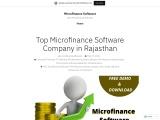 Best Microfinance Software Rajasthan