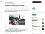 Benefits of Accounting Software in India