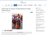Italian Dresses – Guide to Achieve The Best Results In Italian Clothing Stock!
