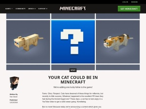 Your cat could be in Minecraft | Minecraft