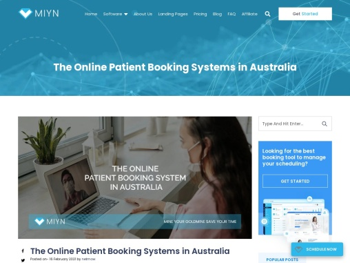 The Online Patient Booking Systems in Australia