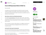 Kill Depression Before It Kills You