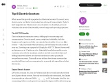 Best Top 5 Electric Scooters in India