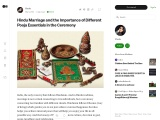 Significance of Pooja Essentials in Hindu Marriage Ceremony