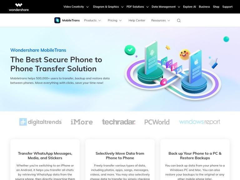 Wondershare MobileTrans Coupons & Discounts April 2021 screenshot