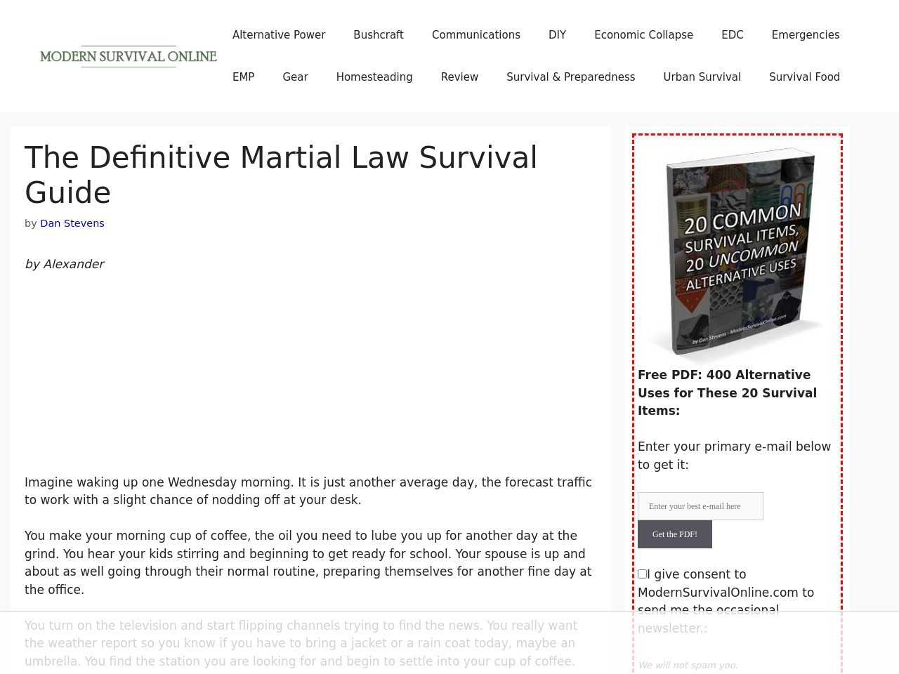 The Definitive Martial Law Survival Guide
