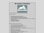 45 ARTICLES NUTRITION