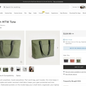 MTW Tote 19L - Olive