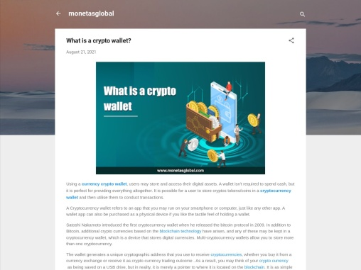 a cryptocurrency wallet and then utilise them to conduct transactions.