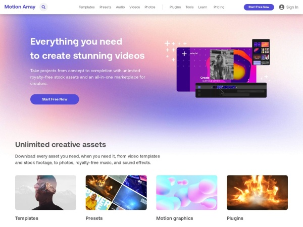 Motionarray  - 15 Best Websites to Download Free Stock Footage (2020)